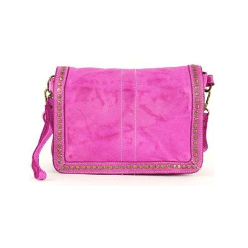 SILVINA Small Cross-body Bag With Studs Fuchsia