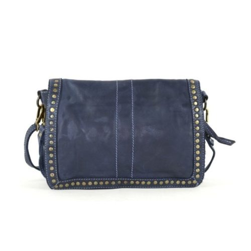 SILVINA Small Cross-body Bag With Studs Navy