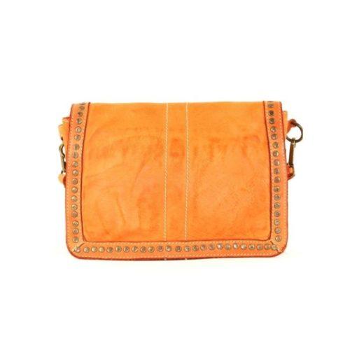 SILVINA Small Cross-body Bag With Studs Orange