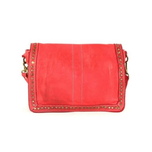 SILVINA Small Cross-body Bag With Studs Red