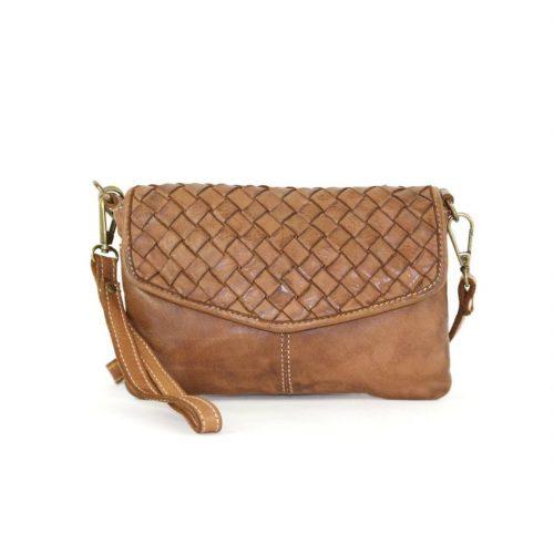 SELENE Wristlet Bag Tan