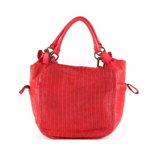 ILARIA Hobo Bag Laser Detail Red