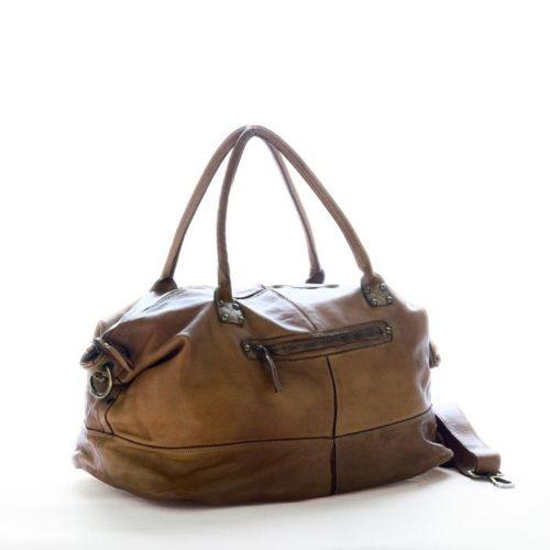 FIONA Large Duffle Weekender Travel Bag Dark Brown