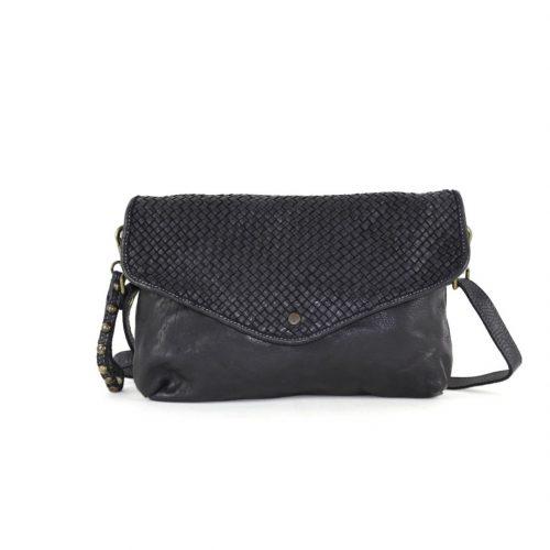 LAVINIA Envelope Clutch Bag Black