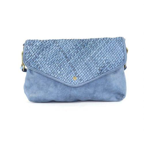 LAVINIA Envelope Clutch Bag Denim