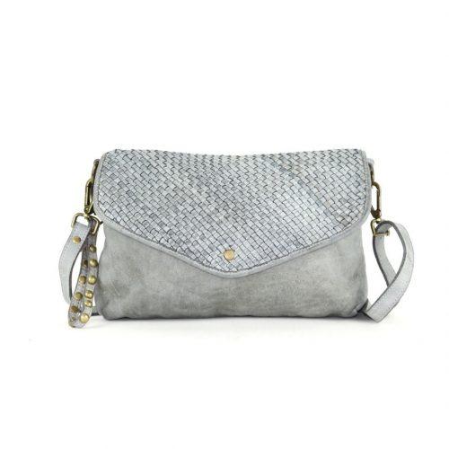 LAVINIA Envelope Clutch Bag Grey