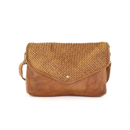 LAVINIA Envelope Clutch Bag Tan
