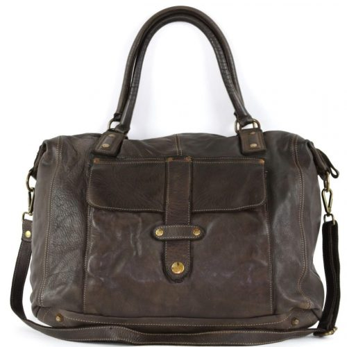 ADELE Satchel Style Bag Dark Brown