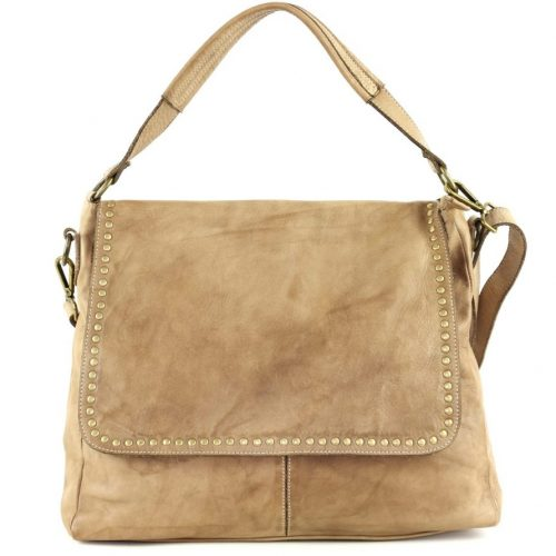 VIRGINIA Flap Bag With Top Handle Taupe