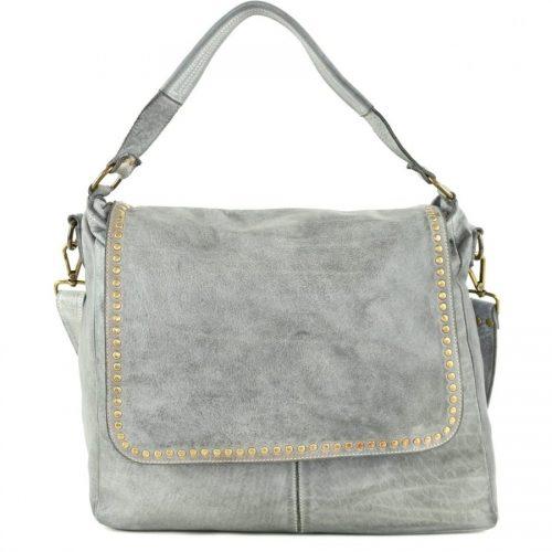 VIRGINIA Flap Bag With Top Handle Light Grey