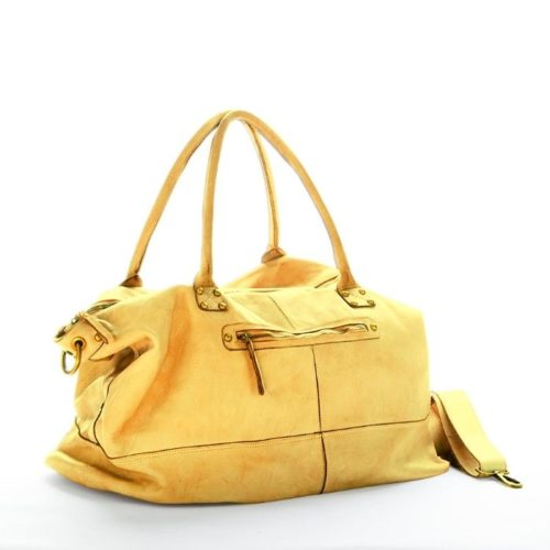 FIONA Large Duffle Weekender Travel Bag Mustard