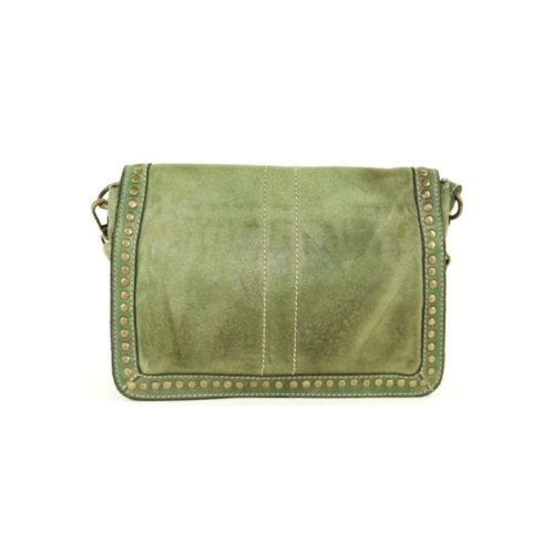 SILVINA Small Cross-body Bag With Studs Army Green