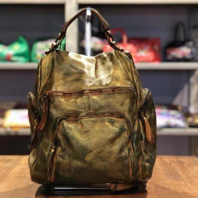 backpack metallic