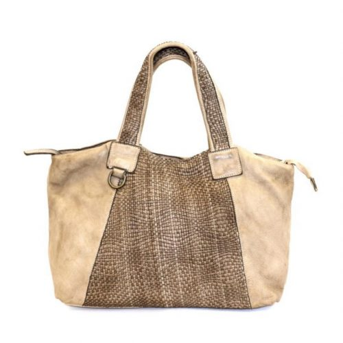 DARIA Hand Bag With Woven Detail Light Taupe