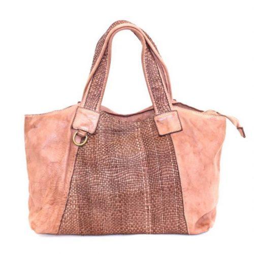 DARIA Hand Bag With Woven Detail Blush