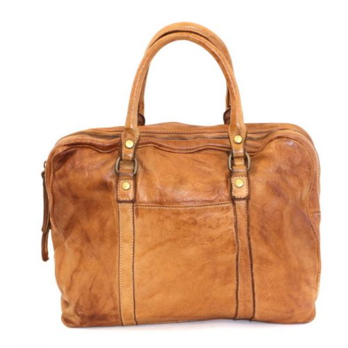 CARLOTTA Laptop Hand Bag Tan