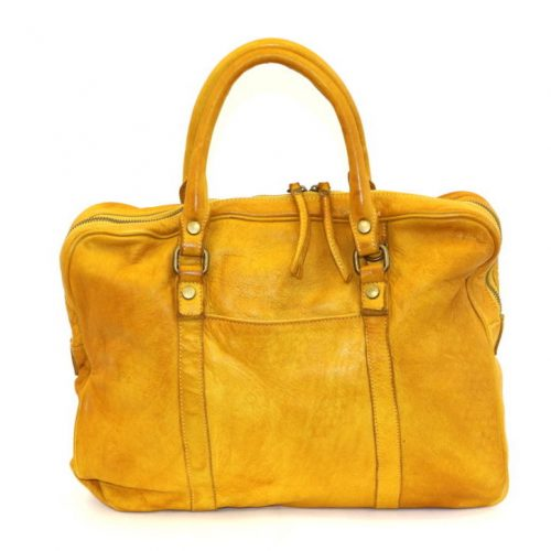 CARLOTTA Laptop Hand Bag Mustard