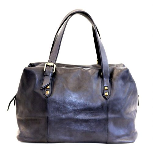 DANIELA Hand Bag With Buckle Detail Navy