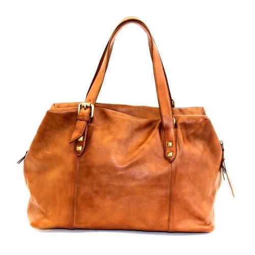 DANIELA Hand Bag With Buckle Detail Tan