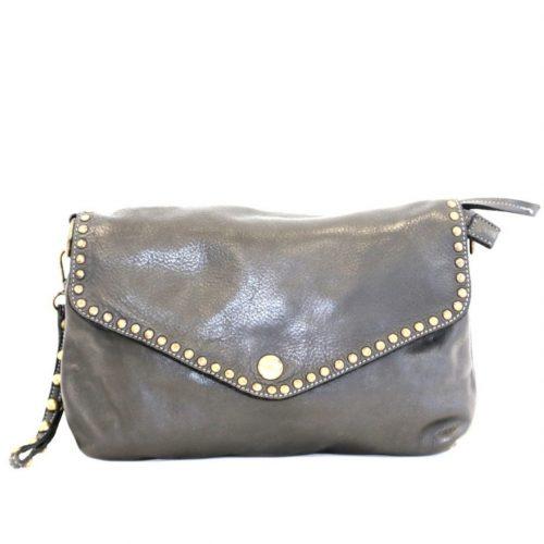 LAVINIA Studded Clutch Bag Black