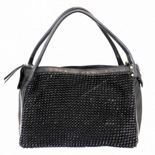 GIADA Hand Bag With Knot Weave Black