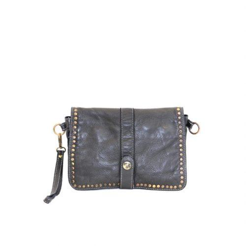 MARTINA Small Messenger Bag With Detail Black