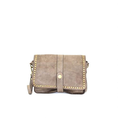 MARTINA Small Messenger Bag With Detail Light Taupe