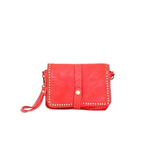 MARTINA Small Messenger Bag With Detail Red