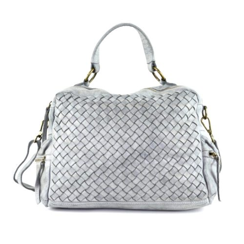 DILETTA Hand Bag Woven Light Grey