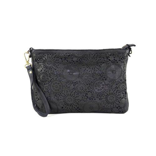 CLAUDIA Laser Clutch Wristlet Bag Black