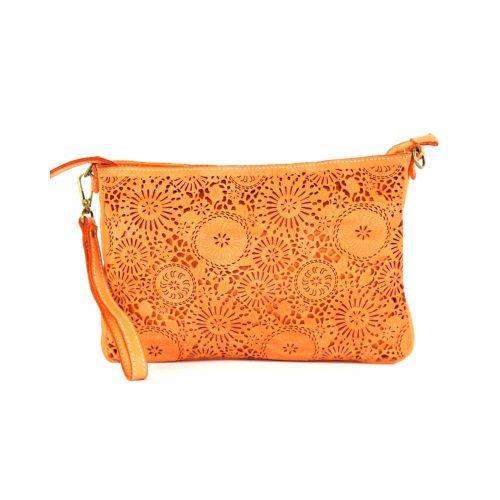 CLAUDIA Laser Clutch Wristlet Bag Orange