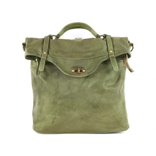 SARA Rucksack With Metal Lock Army Green