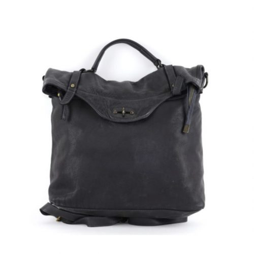 SARA Rucksack With Metal Lock Black