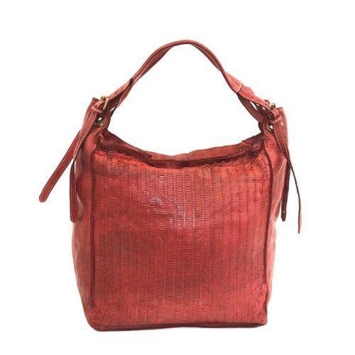 GIULIA Hobo Bag With Moon Laser Detail Bordeaux