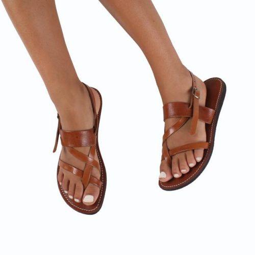 Kos Leather Sandals – Tan