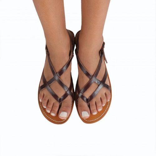 Santorini Leather Sandals – Chocolate