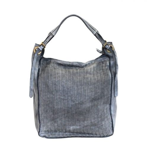 GIULIA Hobo Bag With Moon Laser Detail Grey