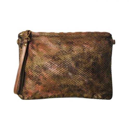 GIORGIA Textured Large Clutch Bag Metallic Limited Edition