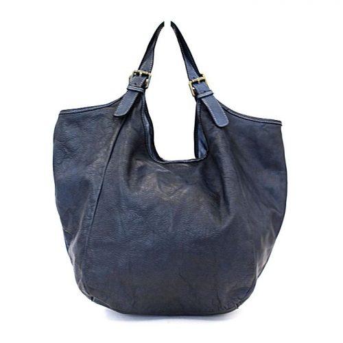 MATILDE Slouchy Hobo Bag Navy