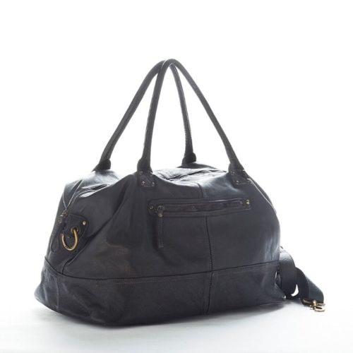 FIONA Large Duffle Weekender Travel Bag Black