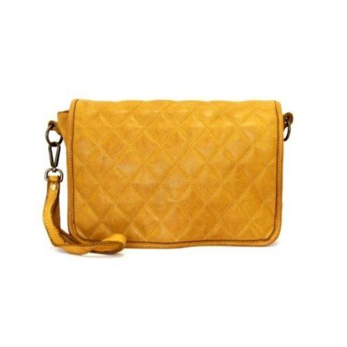 SILVINA Quilted Crossbody Bag Mustard