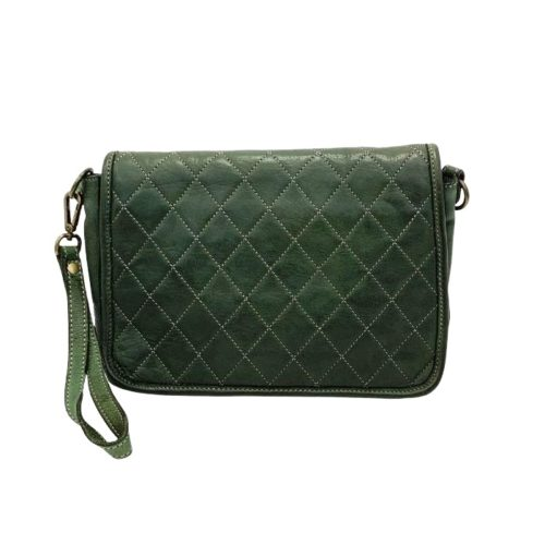 SILVINA Quilted Crossbody Bag Army Green
