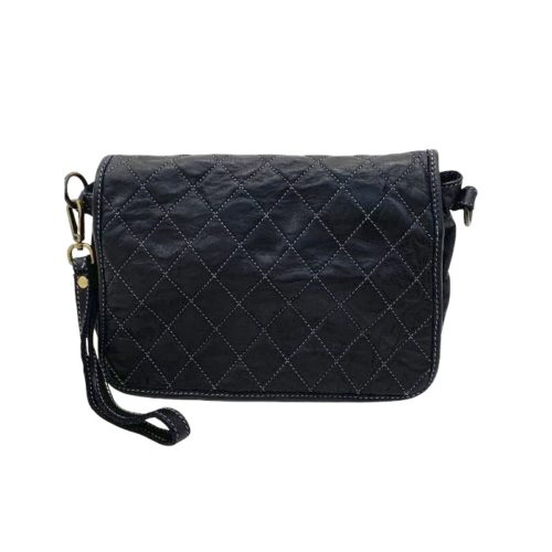 SILVINA Quilted Crossbody Bag Black