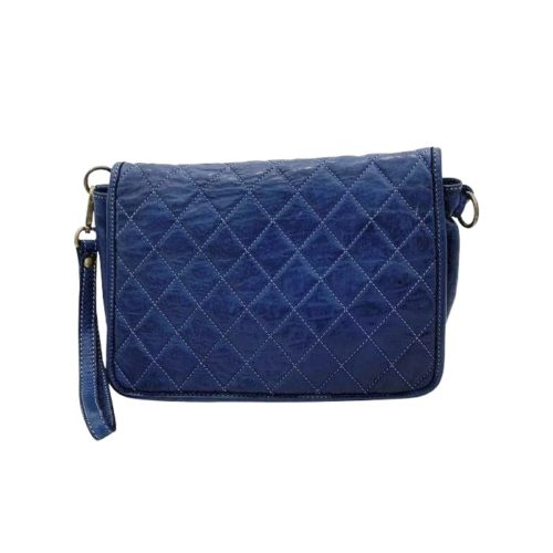 SILVINA Quilted Crossbody Bag Navy