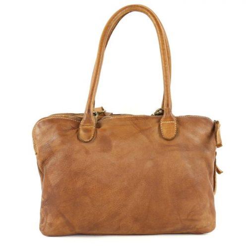 YOLANDA Shoulder Bag With Three Compartments Tan