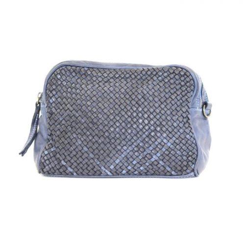 NICOLETTA Woven Crossbody Bag Navy