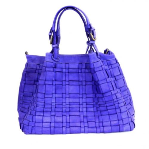 LUCIA Tote Bag Asymmetric Weave Purple