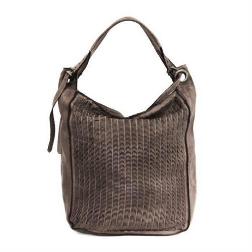GIULIA Hobo Bag With Moon Laser Detail Dark Taupe