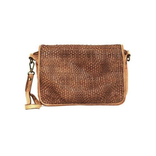SILVINA Wave Weave Cross-body Bag Tan