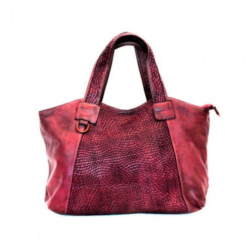 DARIA Hand Bag With Woven Detail Bordeaux